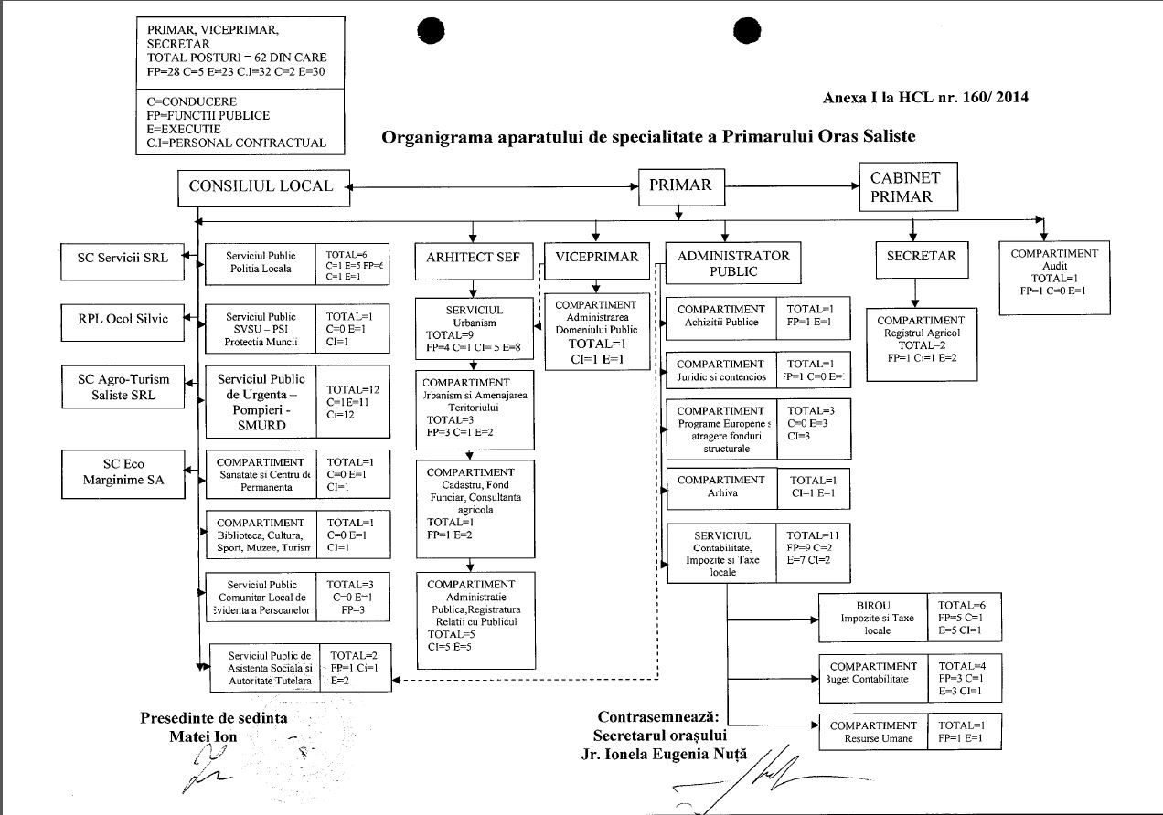Saliste-Organigrama